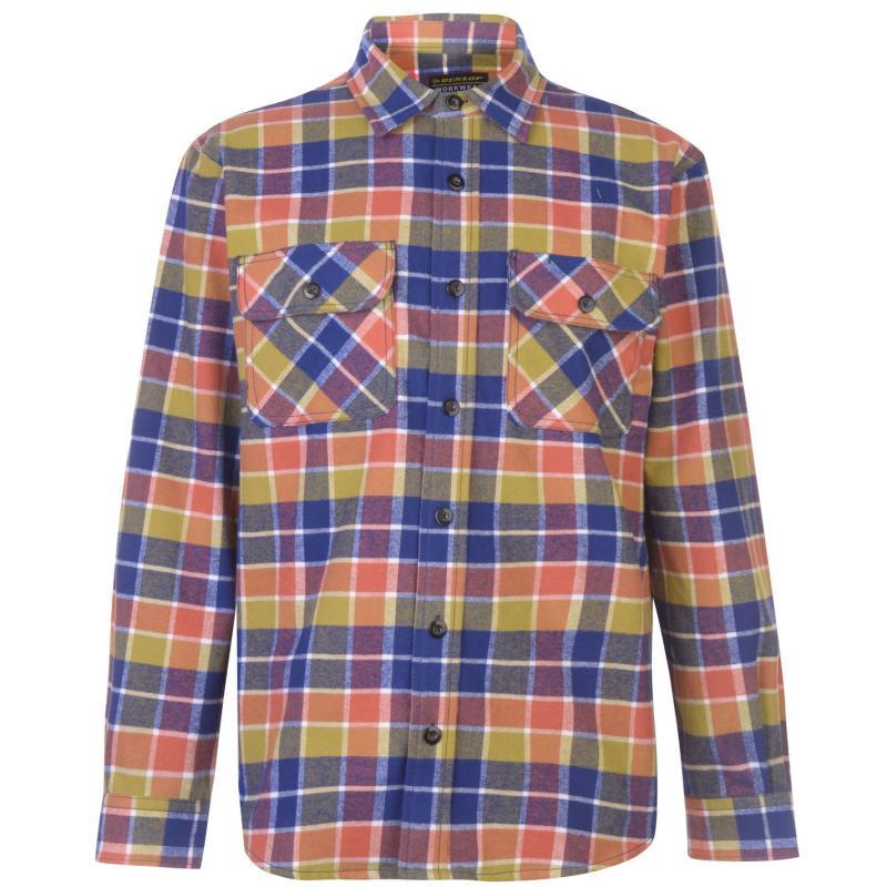 Dunlop Brawny Workwear Shirt Mens Navy/Turquoise