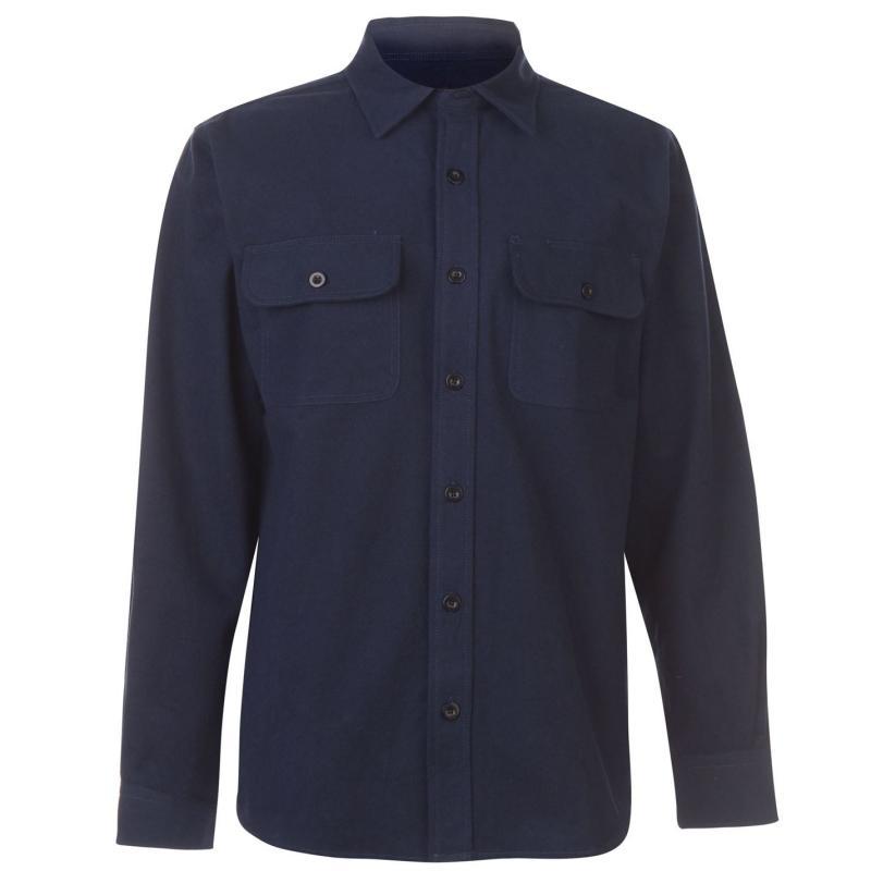 Dunlop Chamois Workwear Shirt Mens Navy