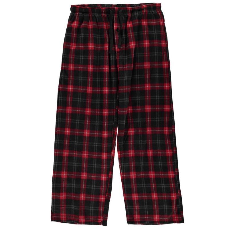 Pyžamo Gelert Soft Plaid Pyjama Bottoms Mens Blk/Smoke Plaid