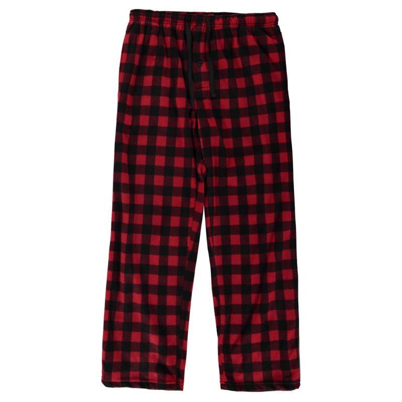 Pyžamo Gelert Soft Plaid Pyjama Bottoms Mens Nvy/Grn Plaid