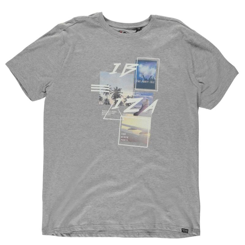 Tričko Loyalty and Faith Mambo T Shirt Mens Grey Marl