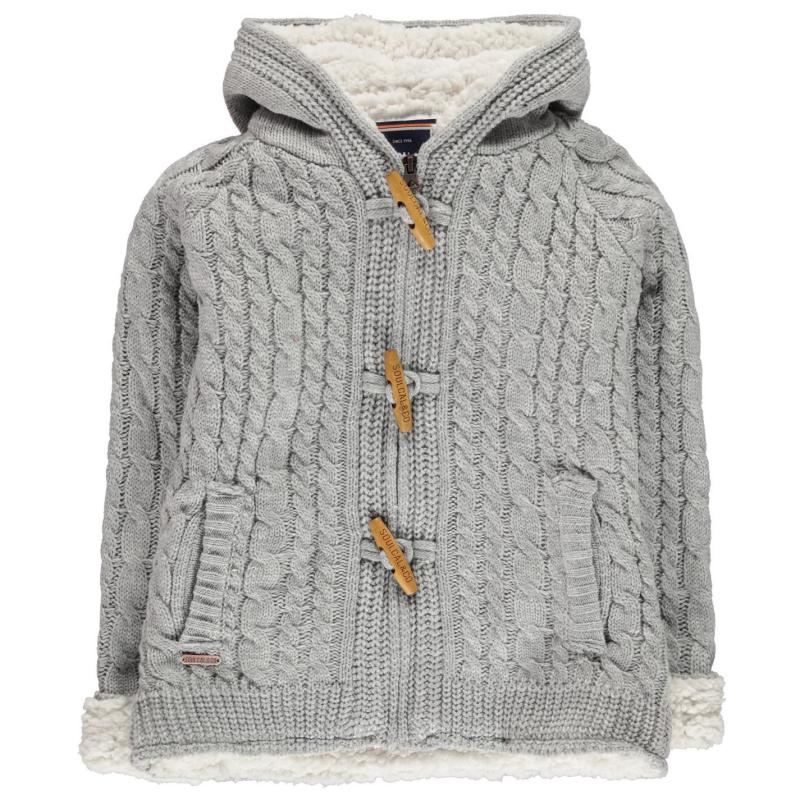 SoulCal Toggle Knit Junior Girls Grey Marl