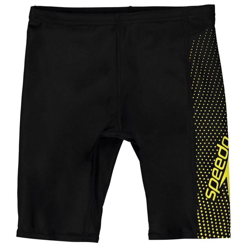 Plavky Speedo Gala Jammers Junior Boys Black/Yellow