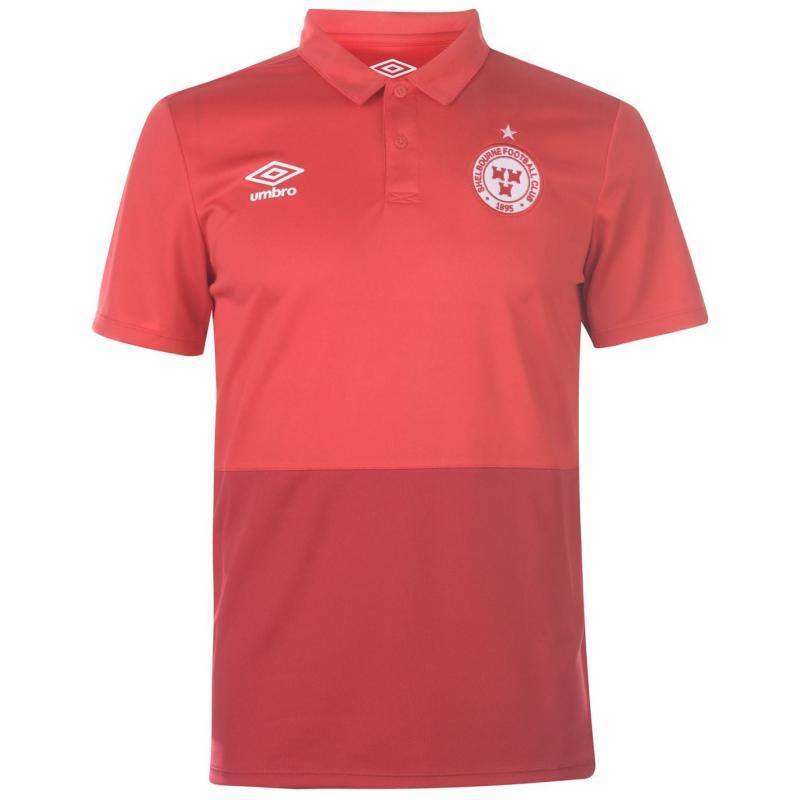 Umbro Shelbourne Polo Shirt Mens Vermillion/Red