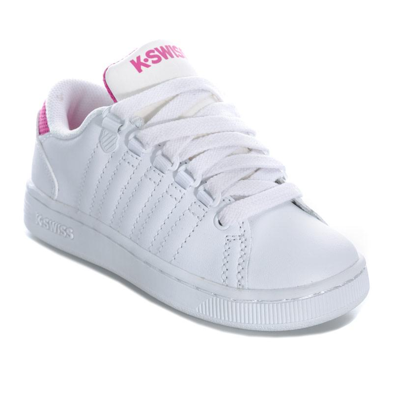 K-swiss Children Girls Lozan 3 Trainers White pink
