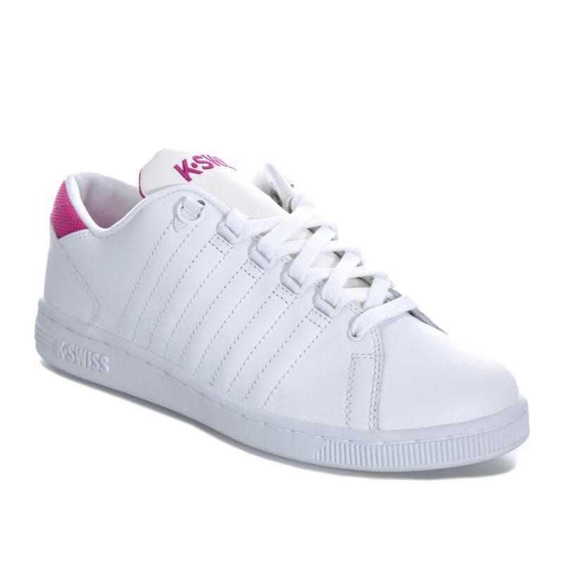 K-swiss Junior Girls Lozan 3 Trainers White pink