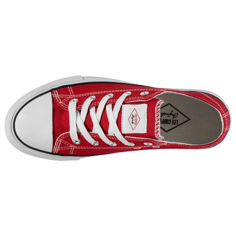 Obuv Lee Cooper Canvas Lo Shoes Ladies Red