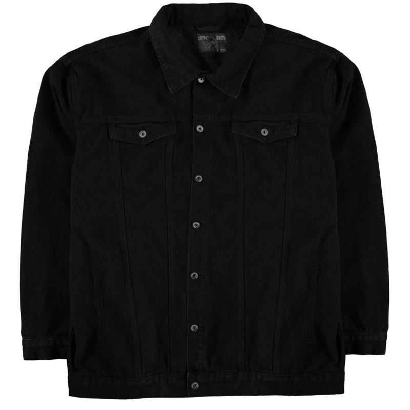 Loyalty and Faith Rocket Denim Jacket Mens Black