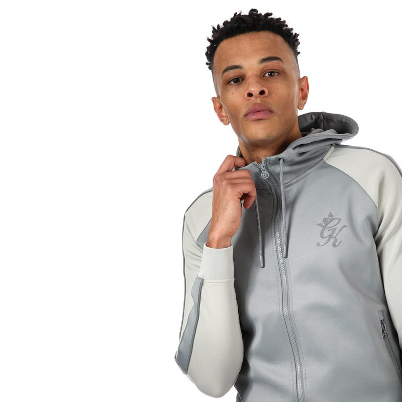 Mikina Gym King Mens GK Reflective Poly Tracksuit Top Stone