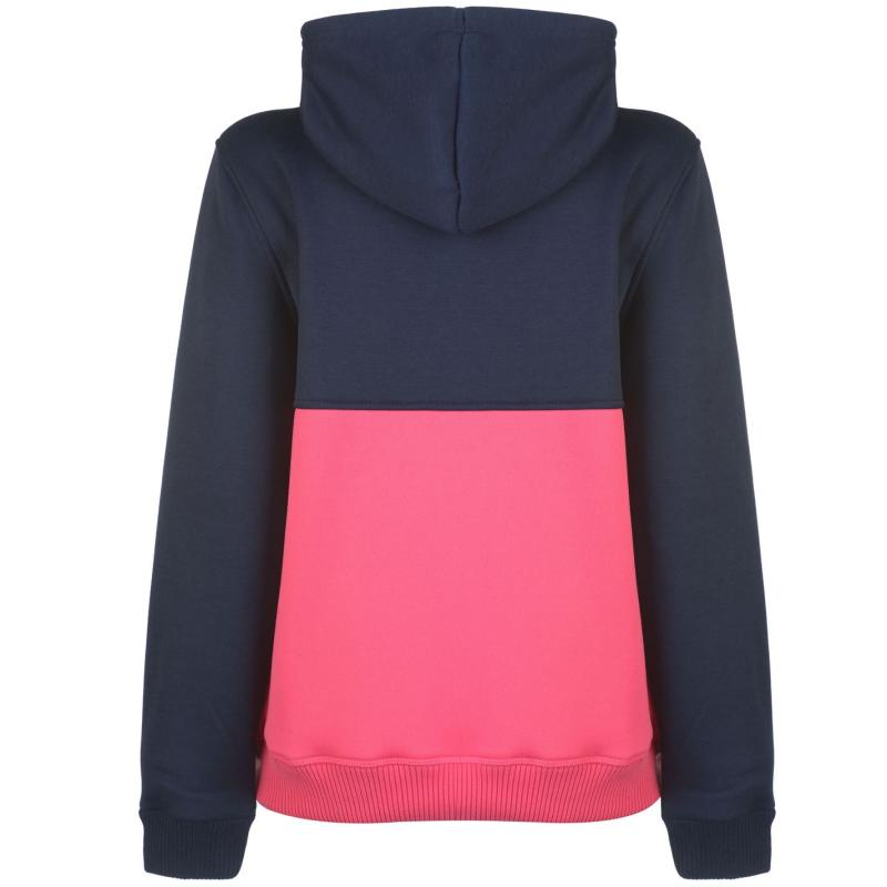 Mikina s kapucí Lee Cooper Cut and Sew OTH Hoodie Ladies Grey M/L Pink