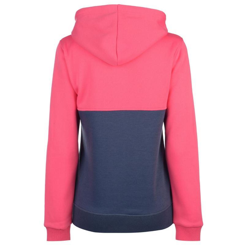 Mikina s kapucí Lee Cooper Cut and Sew Zip Hoodie Ladies Pink/Denim M
