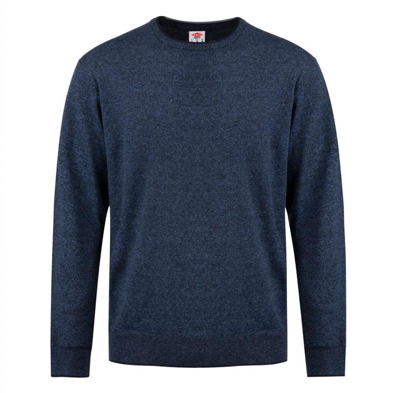 Mikina Lee Cooper Seal Knit Sweater Mens Navy Marl