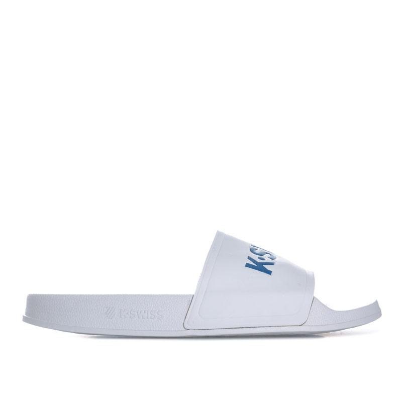 K-swiss Mens K Slide White blue