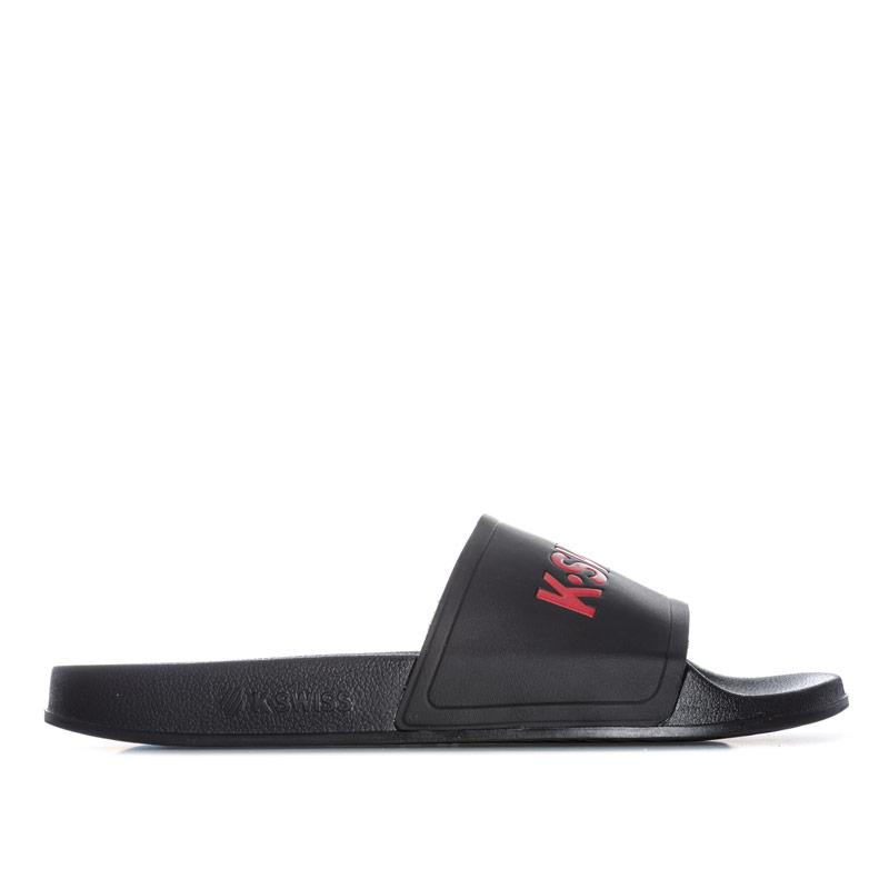 K-swiss Mens K Slide Black Red