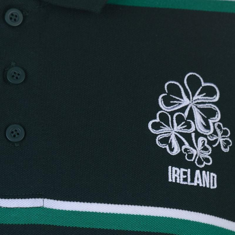 Rugby World Cup 2019 Stripe Polo Shirt Mens Ireland