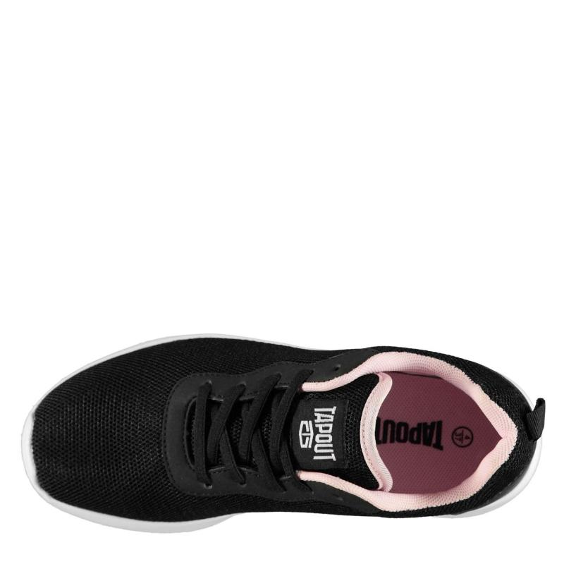 Tapout Clio Run Trainers Juniors Black/Pink