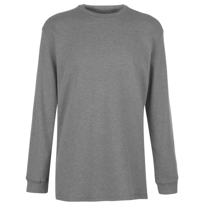 Mikina Gelert Thermal Crew Sweatshirt Mens Light Grey