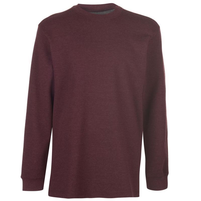 Mikina Gelert Thermal Crew Sweatshirt Mens Wine/Maroon