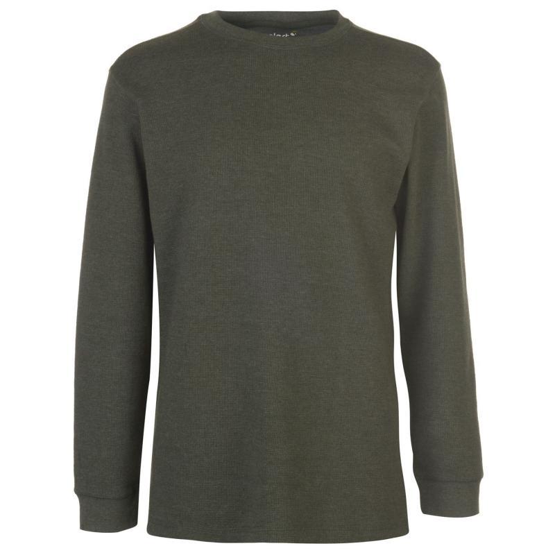 Mikina Gelert Thermal Crew Sweatshirt Mens Dark Green