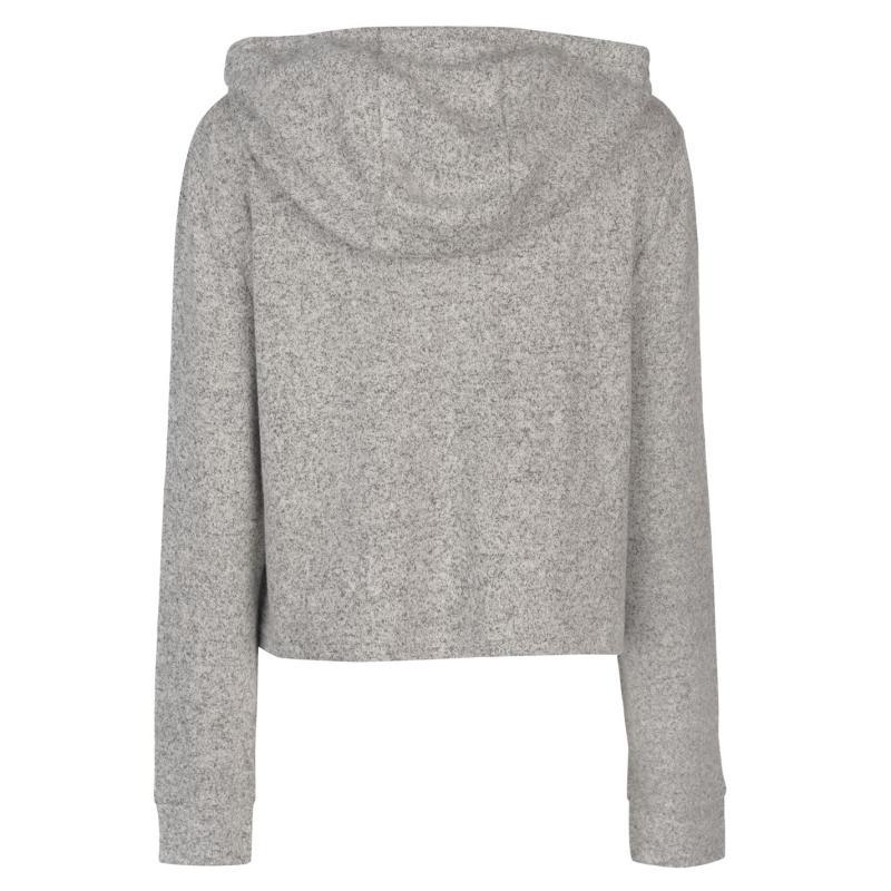 Mikina Golddigga Soft Fleece Hoodie Ladies Grey Marl