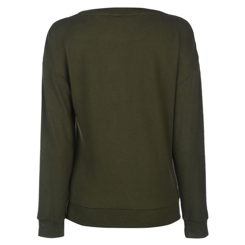 Mikina Golddigga Soft Fleece T Shirt Ladies Black