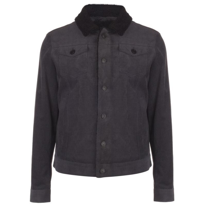 Label Lab Label Stanning Borg Lined Jacket Mens Charcoal