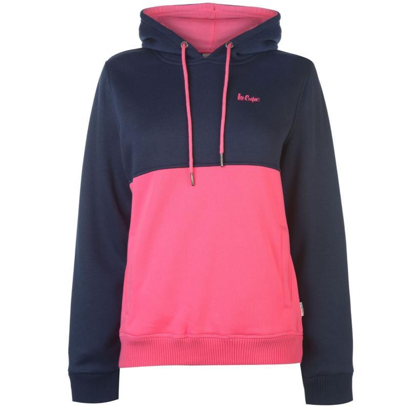 Mikina Lee Cooper Cut and Sew OTH Hoodie Ladies Navy/Pink
