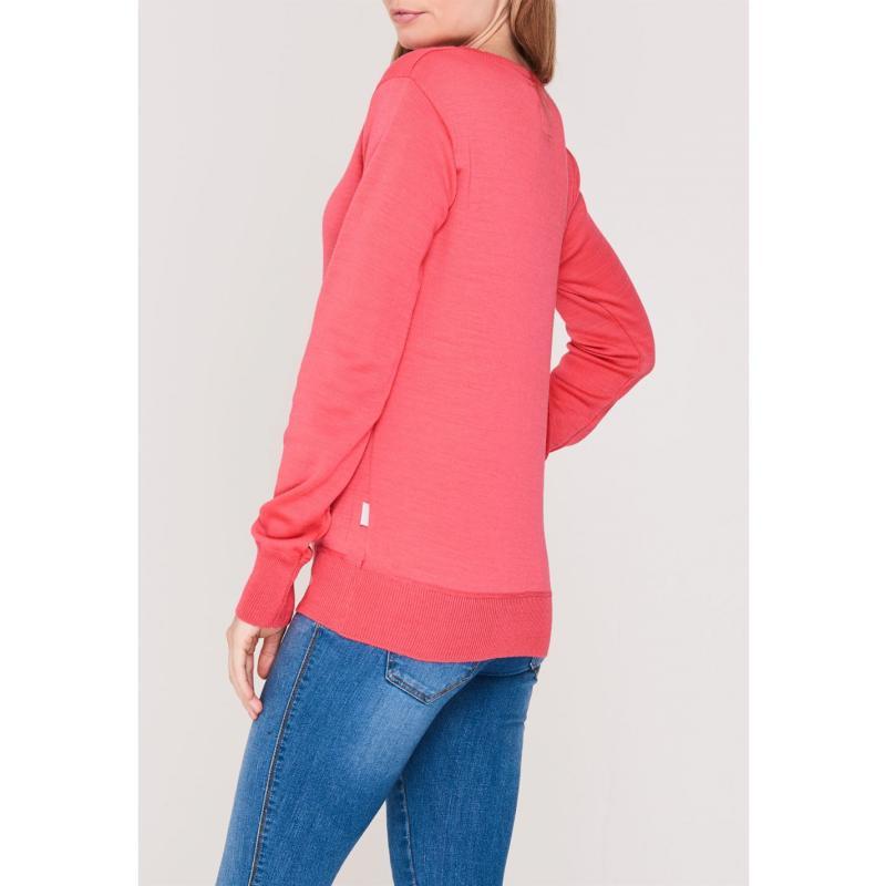 Svetr Lee Cooper Soft V Neck Knit Jumper Ladies Melon Red