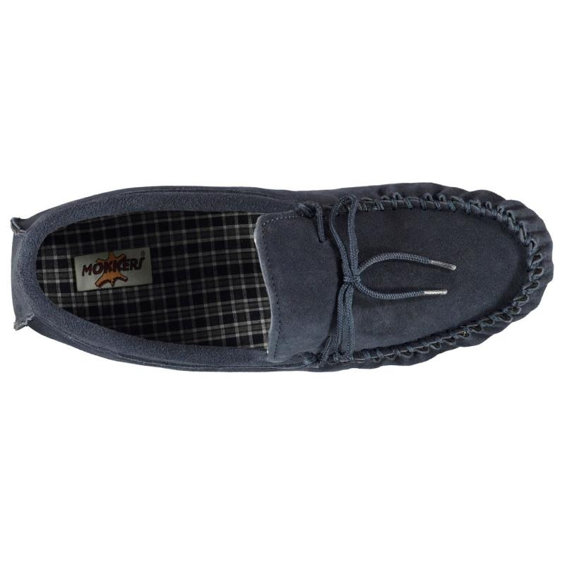 Mokkers Moccasin Carpet Shoes Mens Navy