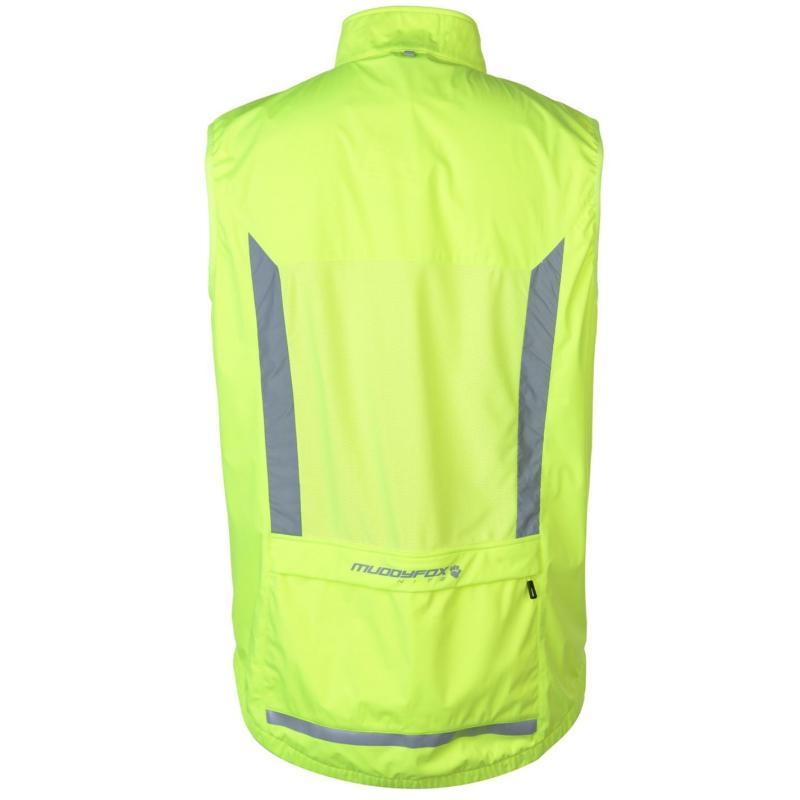 Muddyfox Nite Windproof Gilet Mens Yellow