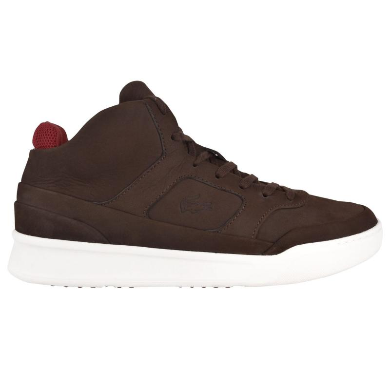 Lacoste Mid Top Trainers Dk Brown