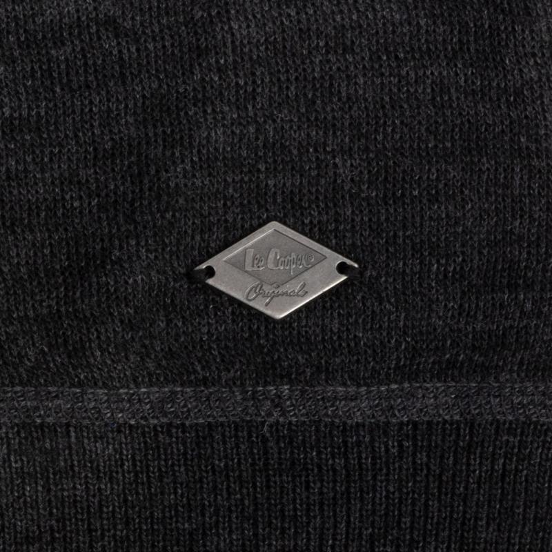 Lee Cooper Knit Jacket Mens Black