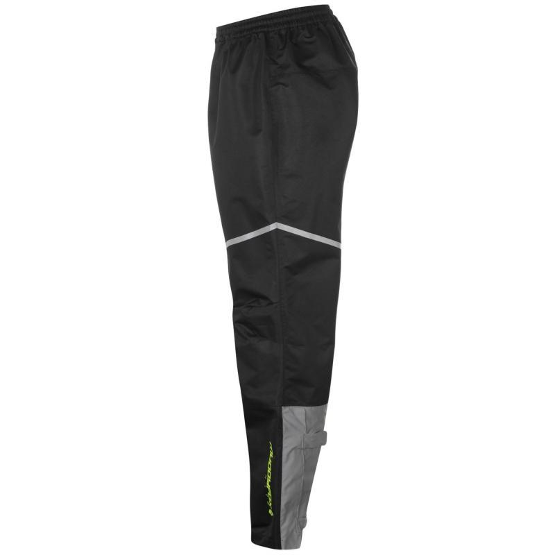 Muddyfox Nite Waterproof Trousers Mens Black/Yellow