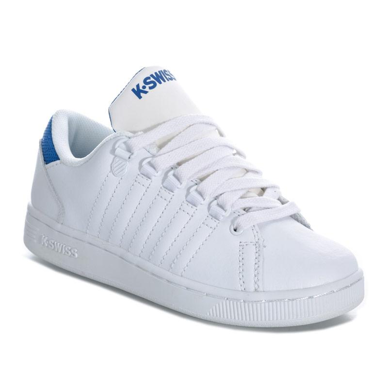 Boty K-swiss Children Boys Lozan 3 Trainers White blue