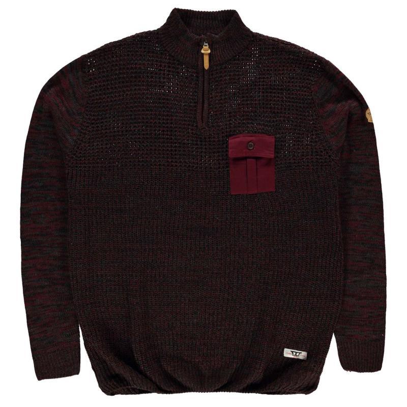 Mikina D555 Stefon Sweatshirt Mens Burg/Char Twist