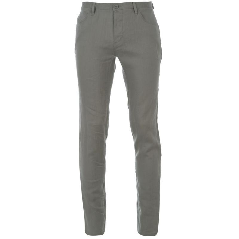 Kalhoty DKNY Four Pocket Hem Pant Trousers Pearl Grey