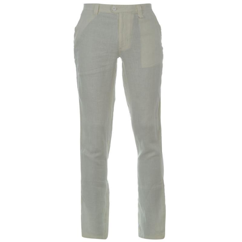 Kalhoty DKNY Zip Chino Pants White