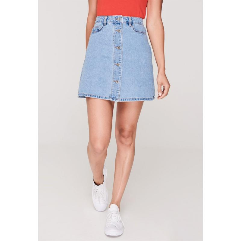 Sukně Noisy May Sunny Denim Skirt Love Potion