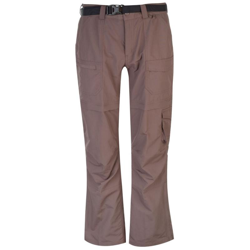 Eastern Mountain Sports Camp Cargo Zip Off Pants Ladies Grey
