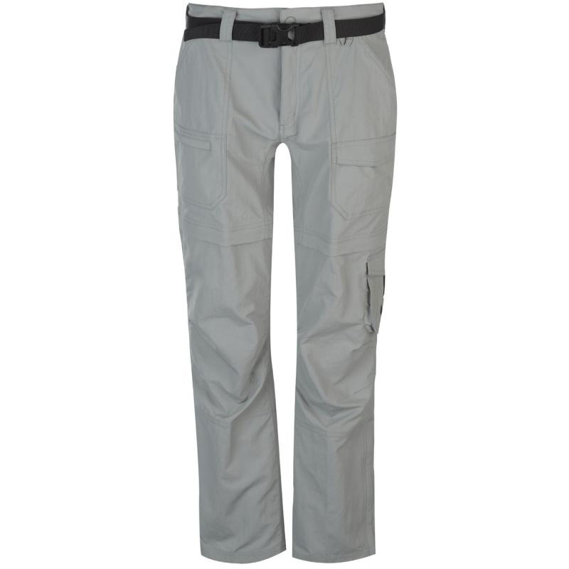 Eastern Mountain Sports Camp Cargo Zip Off Pants Ladies Light Grey