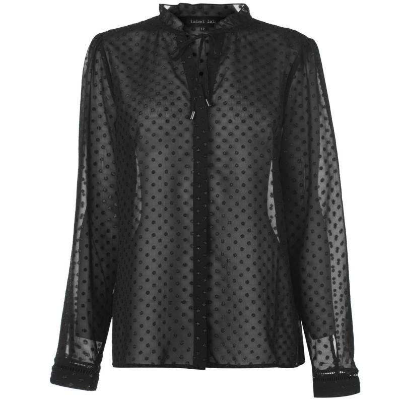 Košile Label Lab Label Dobby Blouse Womens Black