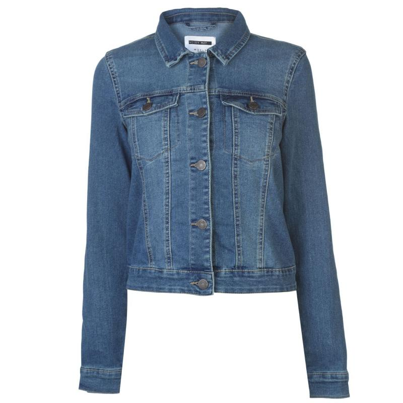 Noisy May Debra Denim Jacket Blue Denim