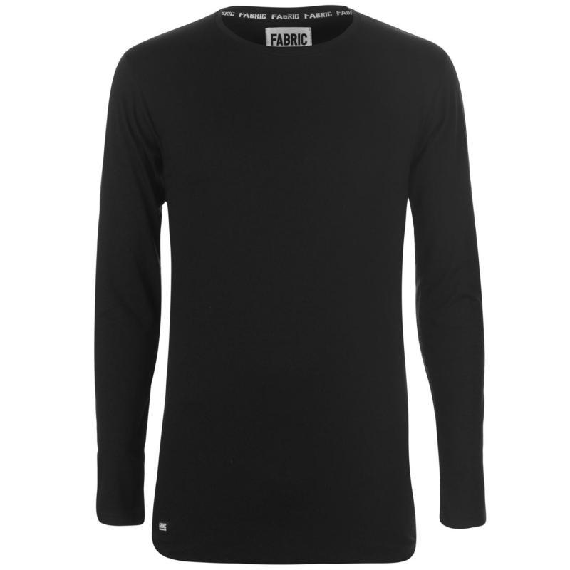 Tričko Fabric Muscle Long Sleeve T Shirt Mens Khaki