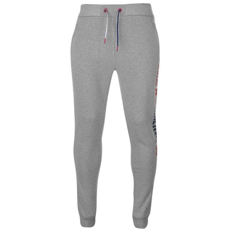 Tepláky Lonsdale Londed Skinny Joggers Mens Grey Marl