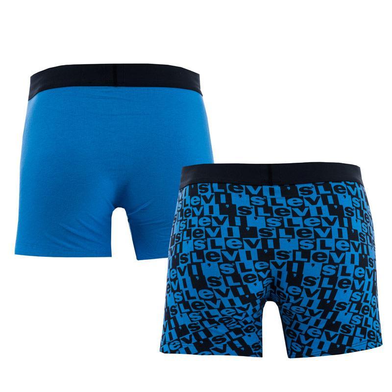 Spodní prádlo Levis Mens All Over Print 2 Pack Boxer Shorts Blue