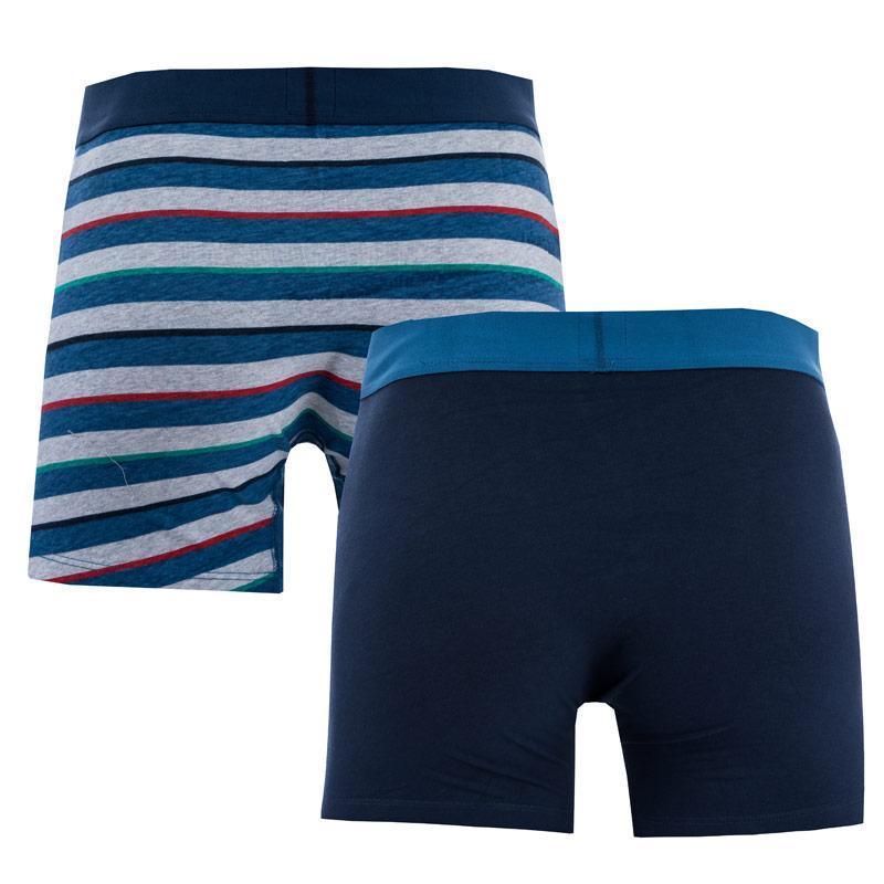 Spodní prádlo Levis Mens Rugby Stripe 2 Pack Boxer Shorts Black