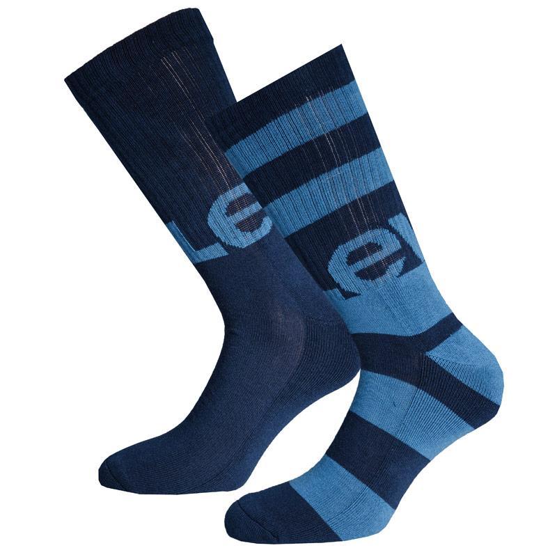 Ponožky Levis Mens Rugby Stripe 2 Pack Socks Blue