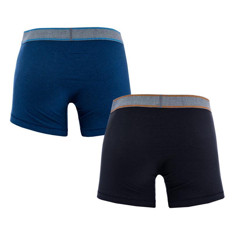 Spodní prádlo Levis Mens Snow Heather 2 Pack Boxer Shorts Blue