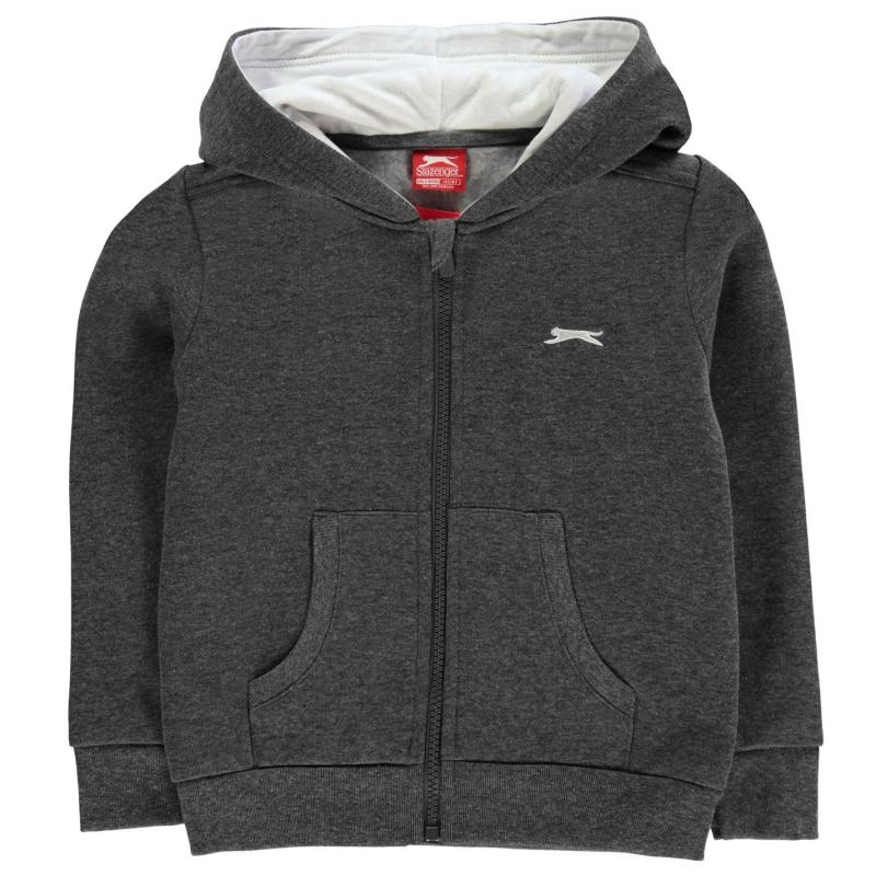 Mikina Slazenger Full Zip Hoody Infant Boys Charcoal