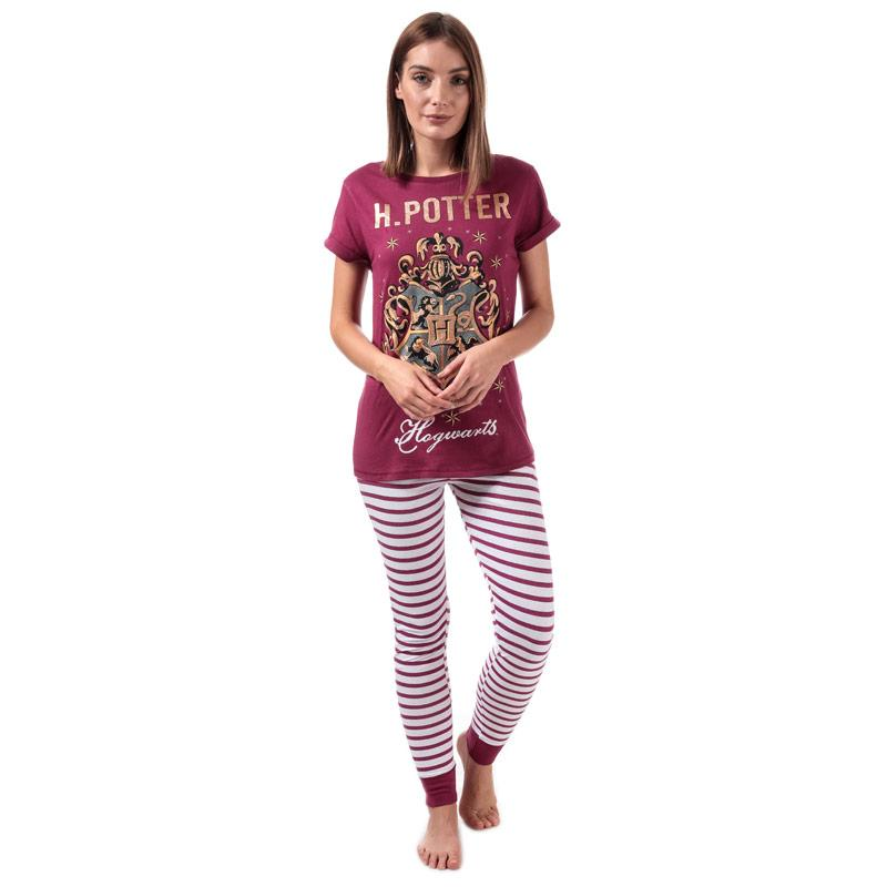 Pyžama Warner Bros Womens Hogwarts Pyjamas Burgundy